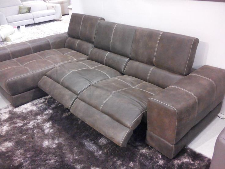 Sake electric reclining sofa with chaise lounge Sofa in old west