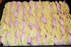Sahniges Kartoffel - Fleischwurst - Gratin