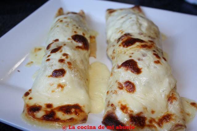 La cocina de mi abuelo: Filloas rellenas de cocido gratinadas con Arzúa-Ul...