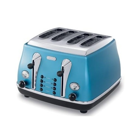 Brighten up your breakfast time with the DeLonghi Icona 4 Slice Toaster. With a design that sits right in the middle of retro and futuristic, it would stand out on any counter top. The intelligent appliance adjusts automatically to the thickness of your bread, enable you to reheat toast and also offers a frozen setting! #genius #useful