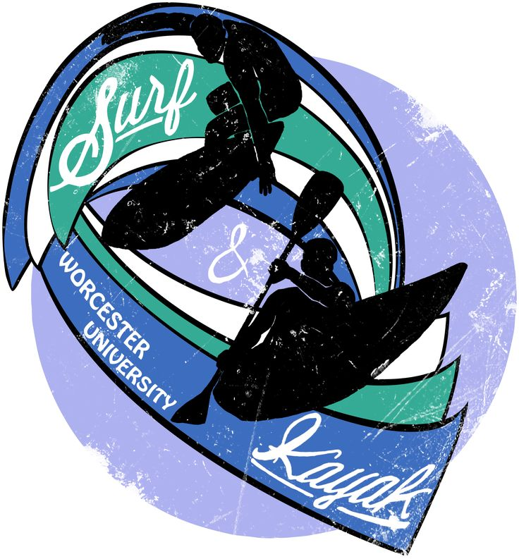 This is an old one - it's a logo I designed for Worcester University's Surf & Kayak Society... as you can see.
