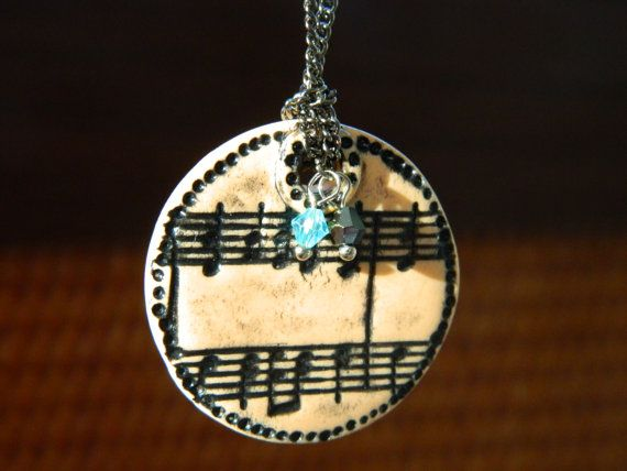 Stylish trendy pendant Melody from polymer clay with by EVAMARE