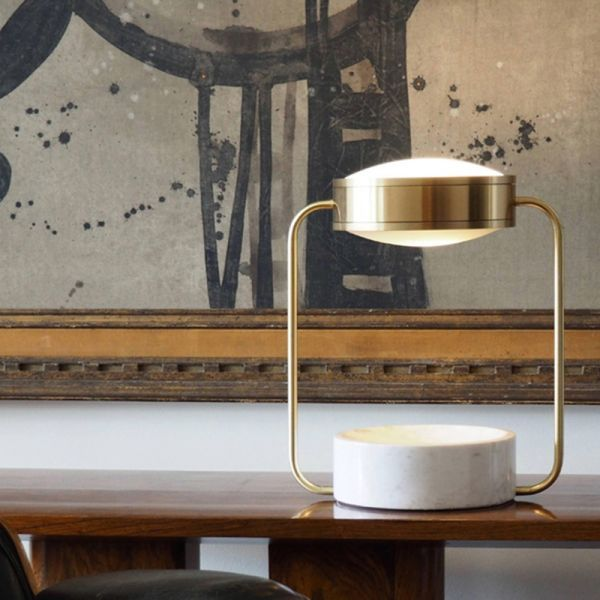 Metal Round Night Table Light Modernist 1 Bulb Gold Adjustable Nightstand Lighting For Study Room 110v 120v Gold Tab Table Lamp Light Table Night Table Lamps