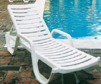 Grosfillex Bahia Contract Adjustable Resin Chaise Lounge Chair W/ Arms. ET  Distributors Is Your