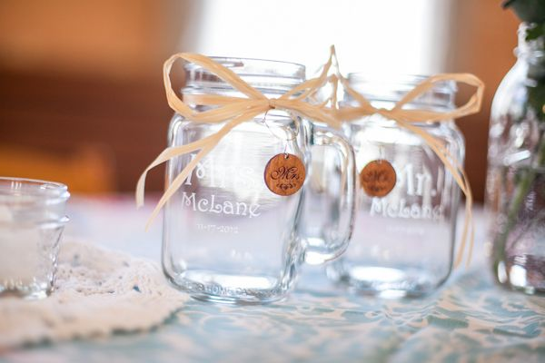 We love these vintage customized mason jars! And if you love them too, be sure to check out more sweet details from our real wedding feature on Wedding Chicks today! http://go.georgestreetphoto.com/l/9752/2013-08-15/fnlsr