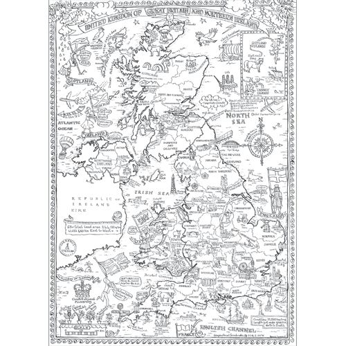 £6 map of British Isles