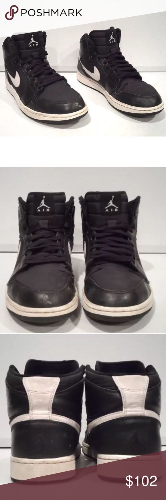 Jordan 1 men size 9 Jordan 1 black and white Jordan Shoes Sneakers