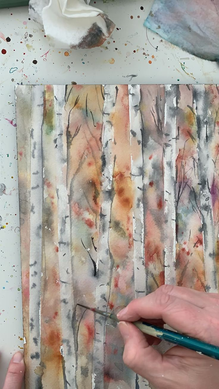 Painting Birch Trees In Watercolor Birch Painting Tree Trees