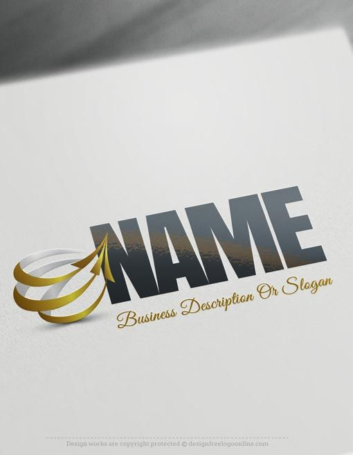 Design Free Logo: online Arrows company Logo Template. Make your own 3d logos with the best free logo creator