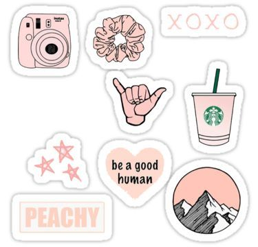 pink vsco sticker pack Sticker | Products in 2019 | Tumblr ...