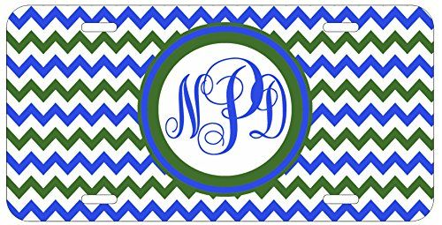 Personalized Monogrammed Chevron Green Blue Car License Plate Auto Tag Top Craft Case http://www.amazon.com/dp/B00LOWOF3Q/ref=cm_sw_r_pi_dp_d.otub16TCFAJ