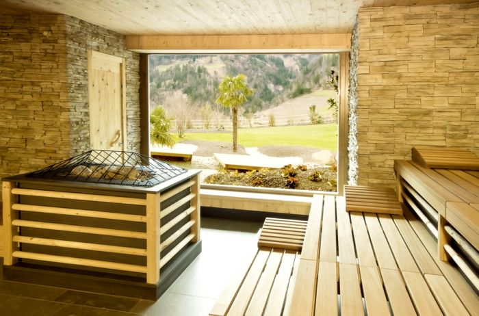 Sauna mit traumhaftem Ausblick: So lässt sich gut saunieren.