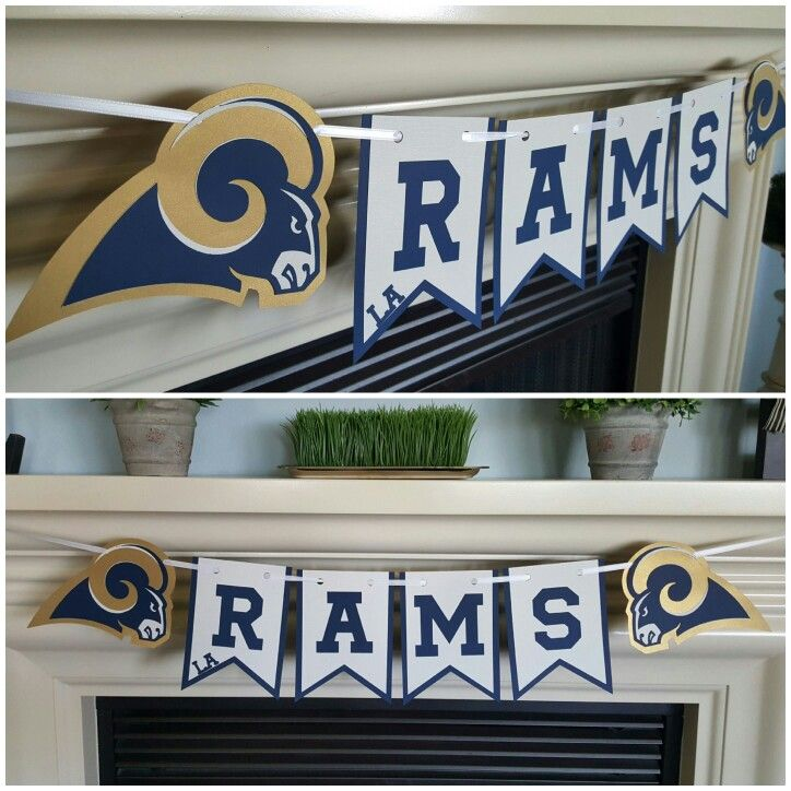 Los Angeles Rams banner.