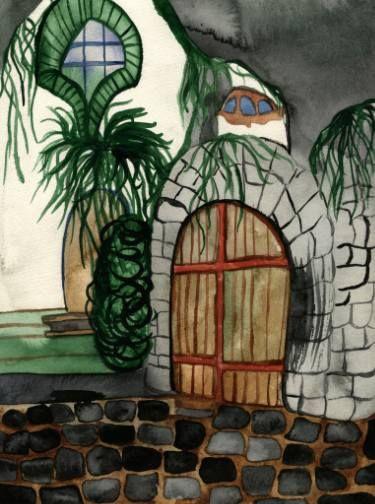 """Saatchi Art Artist Niina Niskanen; Painting, """"House in Szentendre"""" #art"""