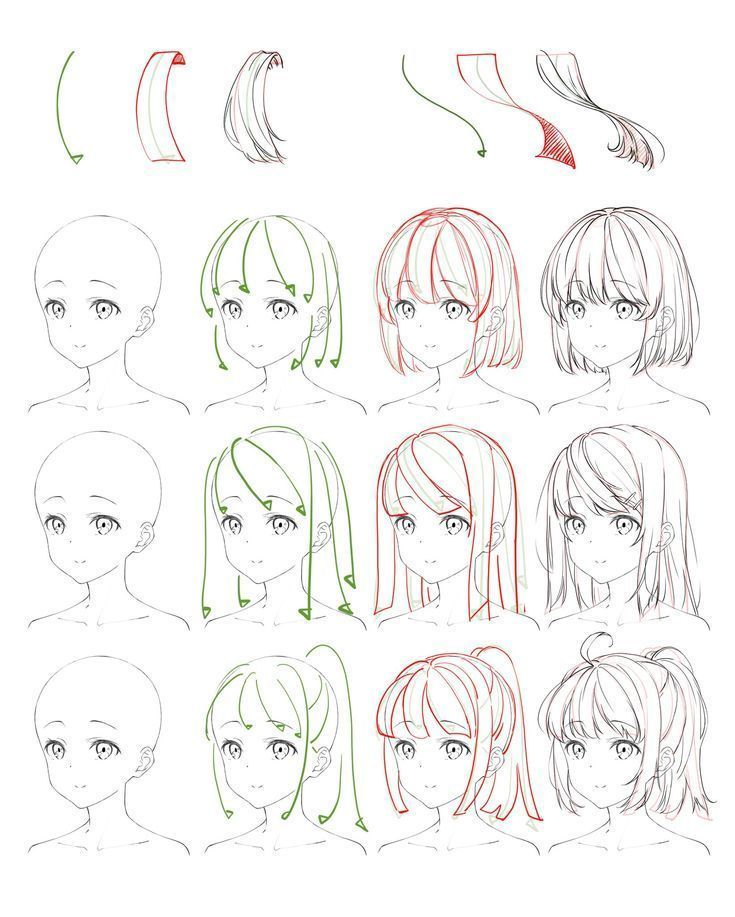 Animehair Anime Anime Is Hand Drawn And Computer Animation Originating From Or In 2020 Anime Drawings Tutorials Anime Drawings Sketches Manga Drawing Tutorials