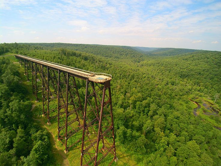 Kinzua Bridge Sky Walk in the Allegheny National Forest in Mount Jewett, PA…