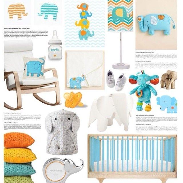Elephant nursery🐘🍼🎀#интерьер #идея #стиль #декор #детский #концепция #коллаж #голубой #оранжевый #желтый #цвет #цветной #дизайн #слон #кроватка #детскаякомната #детская #kashtanovacom #interior #decor #design #elephant #nursery #вдохновение