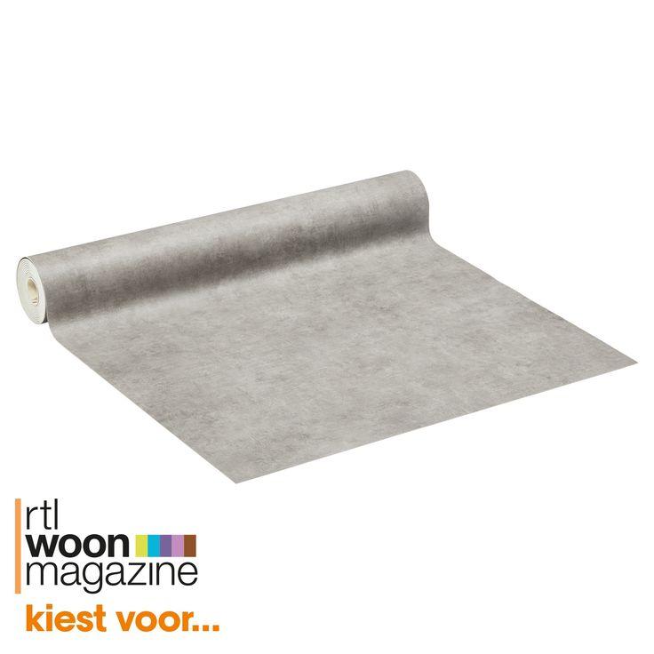 Strak grijs vinyl COALPORT. Slijtvast, geluiddempend en op maat te leggen. 400 cm breed. #kwantum #vloer #vinyl #betonlook #gietvloerlook