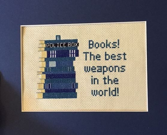 TARDIS Book Quote Cross Stitch Pattern by EpicStitchery on Etsy