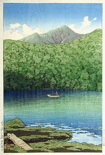 hanga gallery . . . torii gallery: Morning at Tsutanuma Pond by Kawase Hasui