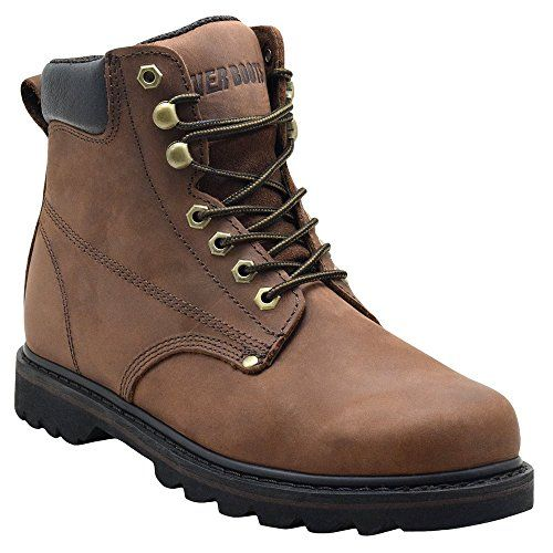 "cool EVER BOOTS ""Tank"" Men's Soft Toe Oil Full Grain Leather Insulated Work Boots Construction Rubber Sole"