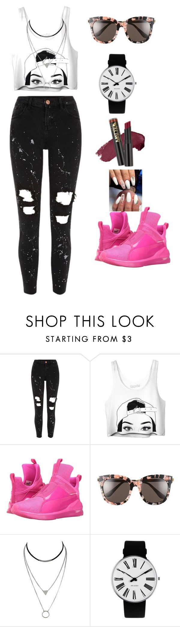 """""""thug girl"""" by vasth-queen on Polyvore featuring River Island, Puma, Gentle Monster and Rosendahl"""