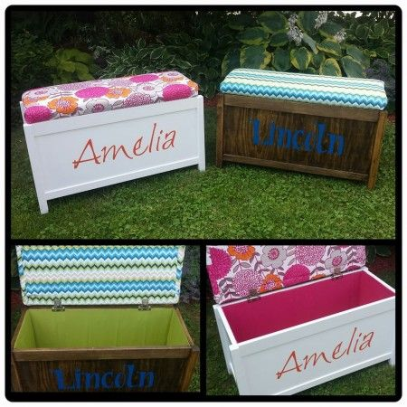 Upholstered Toy Chest DIY I need one.. Think Drock could make one and you do the decorating lol