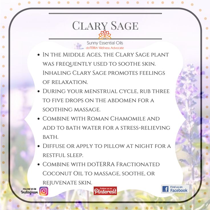 Clary Sage Essential Oil info