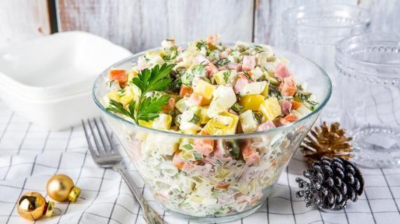 Оливье классический. Пошаговый рецепт с фото на Gastronom.ru