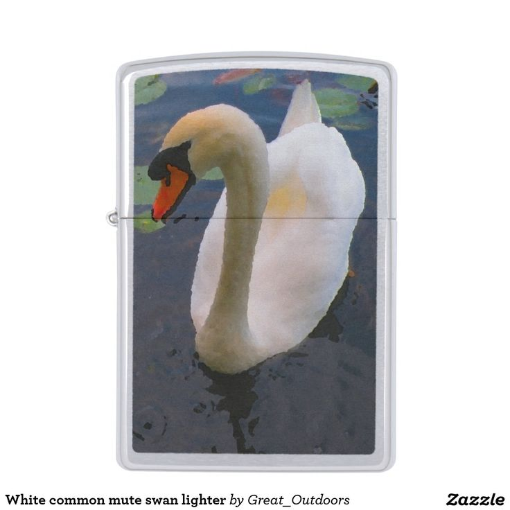 White common mute swan lighter