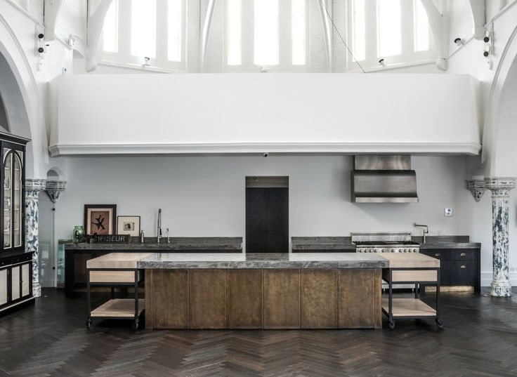 The design had no space constraints in the large converted church