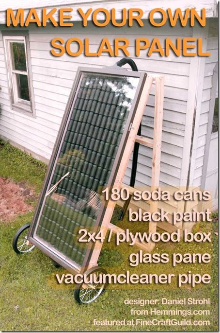 Solar Panels- We've looked into making these before, maybe it's time for me to get on him about actually doing it so we can save some money on electric!!