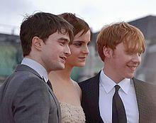 Daniel Radcliffe - Daniel con Emma Watson y Rupert Grint en Londres en el estreno de Harry Potter y las Reliquias de la Muerte - Parte 2.