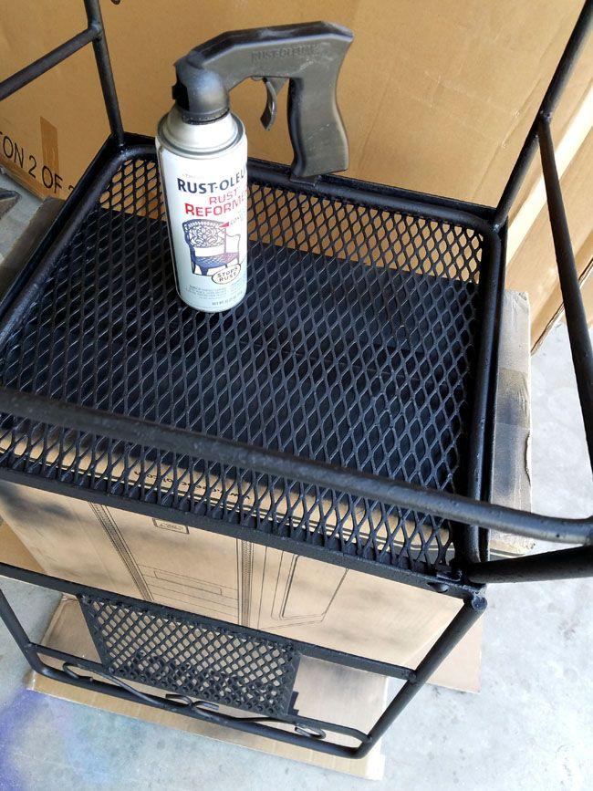 Using Rust-Oleum Rust Reformer to get rid of rust on patio furniture