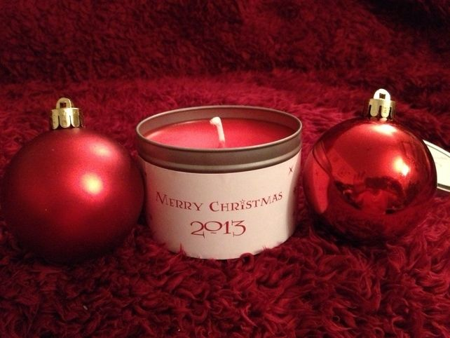 Christmas Tin Candle