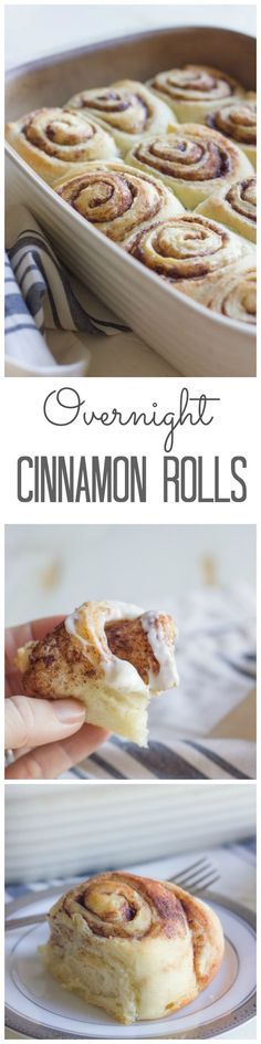 Overnight Cinnamon Rolls With Cream Cheese Frosting Recipe | Lovely Little Kitchen - The BEST Cinnamon Rolls Recipes - Perfect Treats for Breakfast, Brunch, Desserts, Christmas Morning, Special Occasions and Holidays
