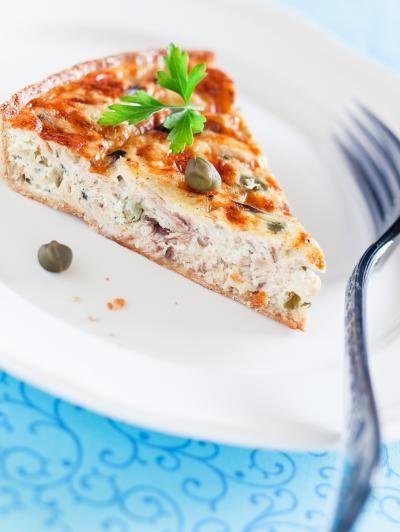 Image de la recette Tarte au thon au fromage fais de St Môret
