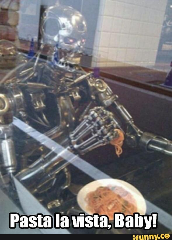 Lunchtime on set of Terminator