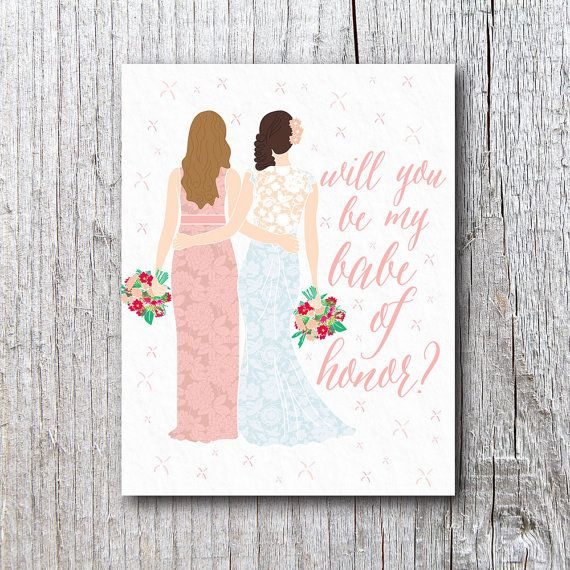 Maid of Honor Card ~ Will You Be My *Babe* of Honor?