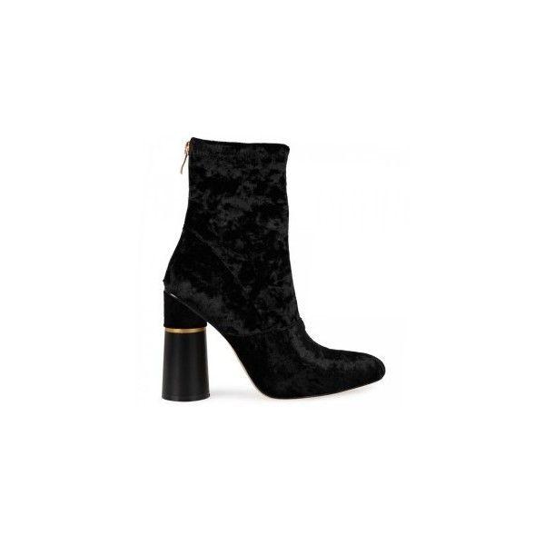Women's Velvet Boots & Heels | EGO ❤ liked on Polyvore featuring shoes, boots, velvet shoes and velvet boots