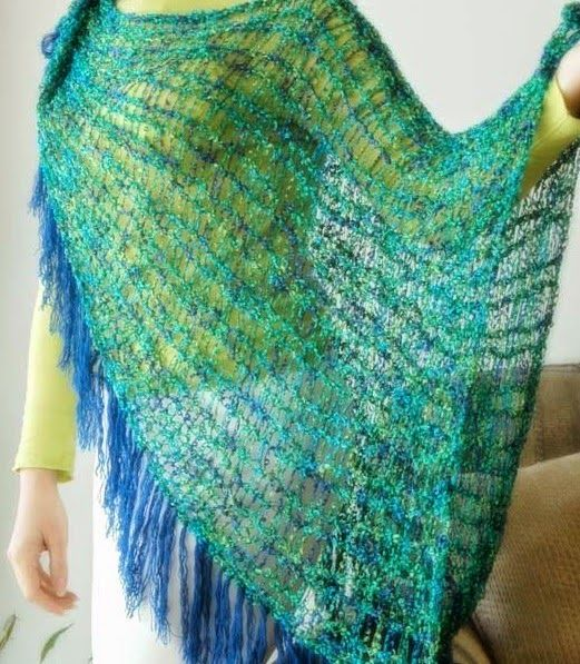 Knifty Knitter Shawl | Loom knitting patterns, Knifty ...