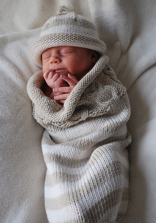 Owlie Sleep Sack Free Knitting Pattern