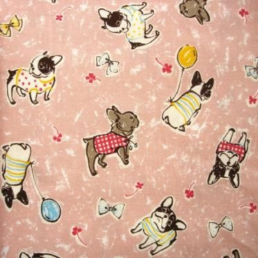 Quilting Fabric with French Bulldog pattern | I'd Rather ...