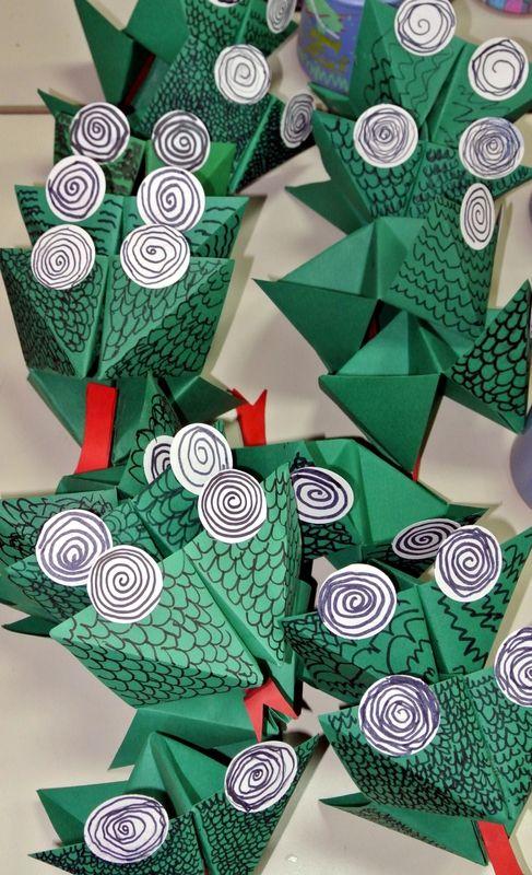 Dracs de paper plegat