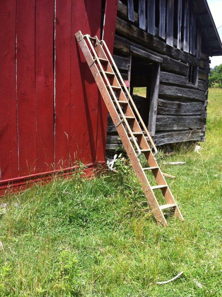 Antique Library Putnam Rolling Ladder Wood And Metal The Bullpen Rolling Ladder Wood