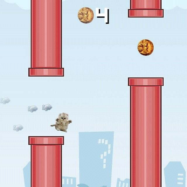 How about a flying pet kitty cat? Make any character with the new Flying Avatar #game!  Coming soon to the #AppStore! Make any Avatar! Make ANY flying character you want! Flappy Bird was fun, but Flying Avatar has the one-and-only feature where you can make any character you want! Will you be able to beat the highscore with your own custom Avatar? #flyingavatar > #flappybird #highscore #games #funapp #freeapp http://www.flyingavatar.com