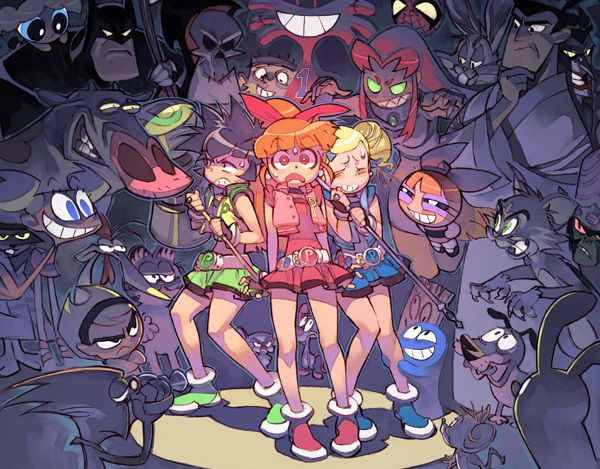 Tags: Anime, Fanart, Power Puff Girls Z, Batman, Goutokuji Miyako