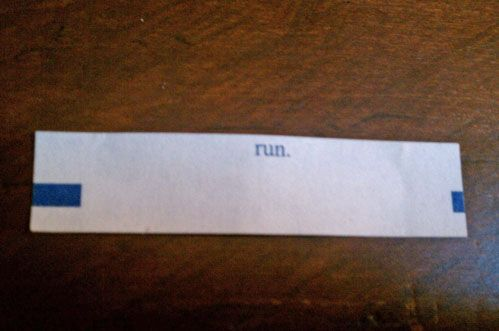 """Scariest fortune cookie ever."" ....... clearly this person is not a Whovian.<---- actually, this works both ways. A) Oh My Gosh the Doctor is sending me a message!!! B) Keep in mind WHY the Doctor is sending you a message"
