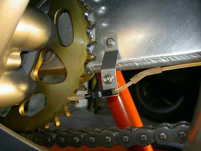 Nozzle installation on a Benelli Tre