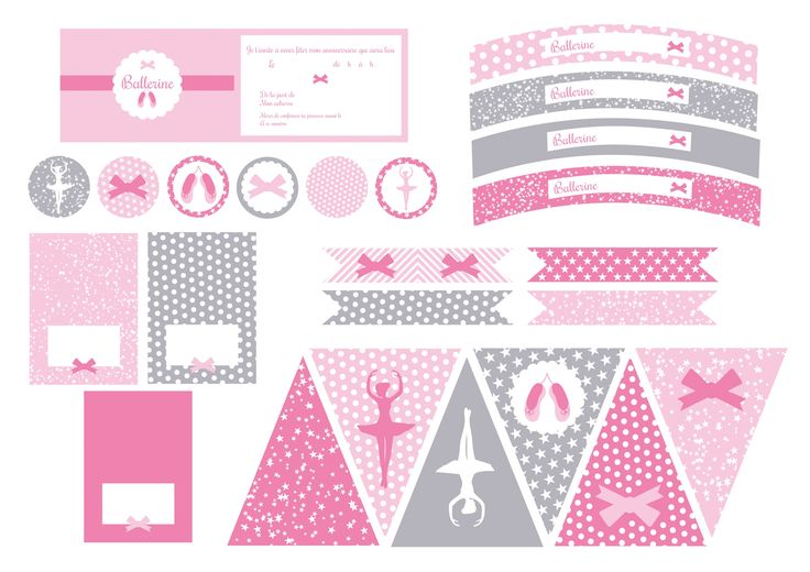 printable anniversaire ballerine deco f te anniversaire. Black Bedroom Furniture Sets. Home Design Ideas